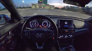 2019 Honda Accord 2.0T Sport 6-Speed Manual - POV Night Driving Impressions