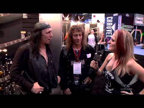 Anvil stops by the Dean Guitars Booth at 2013 NAMM.