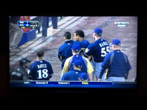 Carlos Gomez Pimps Homerun & Benches Clear Brawl