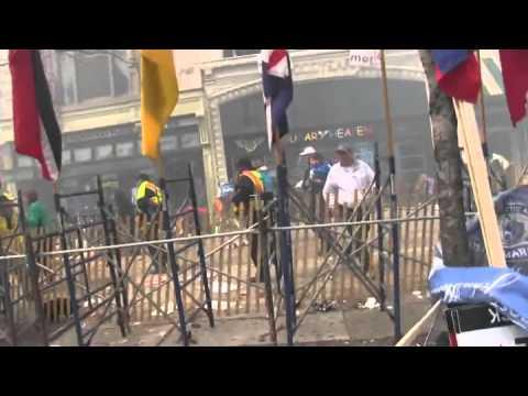 Boston Marathon Bomb Explosion