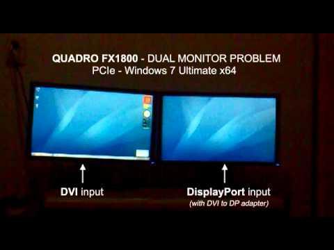 NVIDIA QUADRO FX1800 - Dual monitor problem