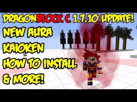 Dragon Block C 1.7.10 UPDATE: New Aura, Kaioken, Majin Buu Saga Added, & How To Install Mod!