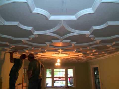 Decorative Plaster Ceiling Youtube