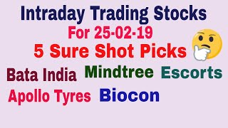 Intraday Trading Stock tips for tomorrow # Strong level in hindi with Strategy    25-02-2019   TT