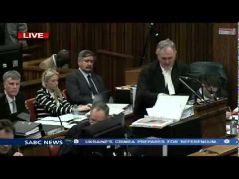 Oscar Pistorius Trial: Wednesday 12 March 2014, Session 2
