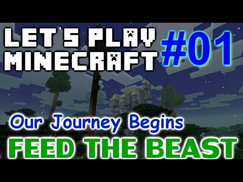 Let's Play Minecraft FTB Ep. 1 - Our Journey Begins!