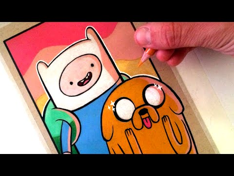 Drawing Adventure Time - Finn and Jake - FAN ART FRIDAY