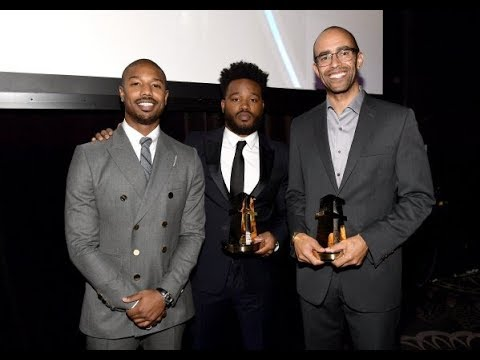 Michael B. Jordan Presents 2018 HFA To Ryan Coogler And Nate Moore For Black Panther
