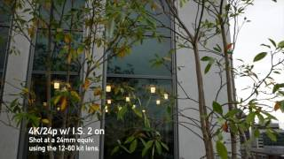Panasonic G85: Panning Hand-held in Video w/ IS