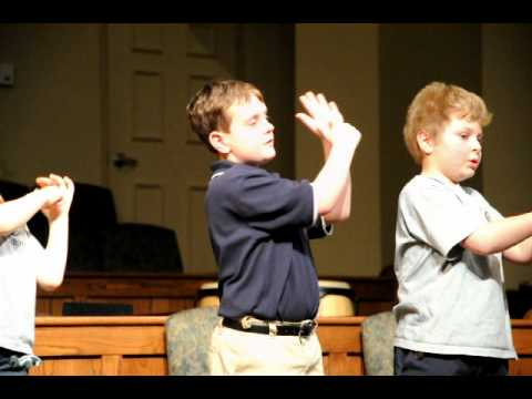 Who Am I by Casting Crowns performed by Grace Academy 3rd Grade - 03/10/2011