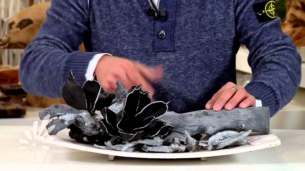 Houten tray met foambloemen en hout opgemaakt door Romeo Sommers   YouTube