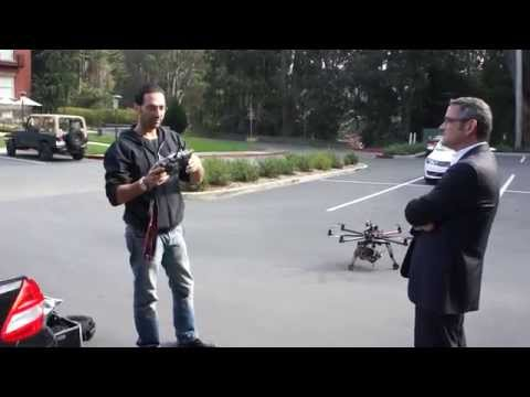 Ziv's fantabulous aerial autocopter drone robot with HD video camera mounted on a gimble