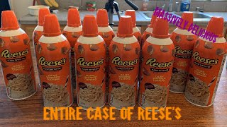 EPIC Reese's CASE OF WHIPPED CREAM - 12 CANS - MOLLY SCHUYLER WHIPPED CREAM SHOWDOWN DEFEATED