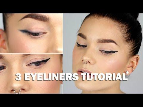 3 eyeliners tutorial (with subs) - Linda Hallberg Makeup Tutorials