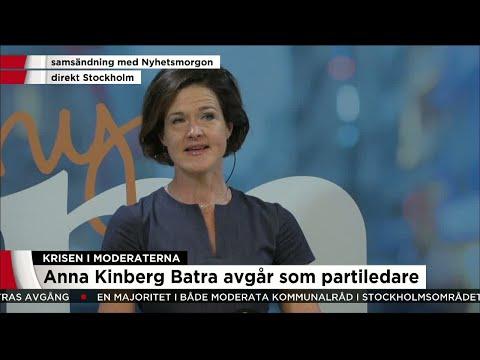 Här berättar Anna Kinberg Batra att hon avgår - Nyheterna (TV4)