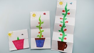 FUNNY DRAWINGS FOR KIDS. How to Draw a Growing Flower Easy and Cute. Art for kids