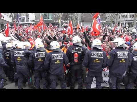 Straßenkrieg - Kurden vs. Türken, 10.4.16, Stuttgart