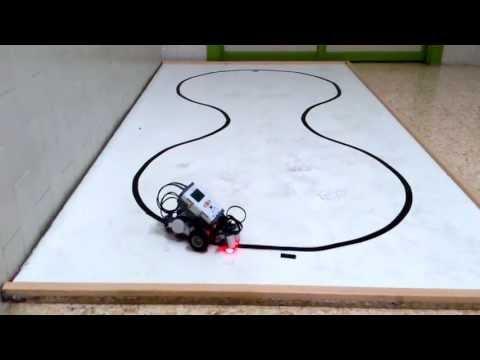 Robot Lego Que Sige Líneas Negras Y Gira En Una Marca (con Dos Sensores Infrarojos).