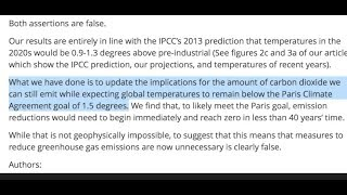 """CO2 Overestimated 50%"" 