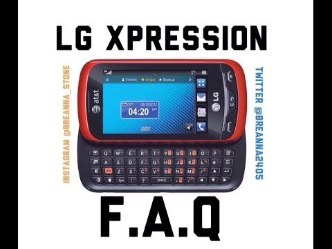 LG Xpression- Frequently Asked Questions
