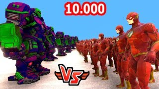 10.000 FLASH VS 10 HULKBUSTER 😱 - Süper Kahramanlar