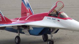 SKYMASTER MIG29 powered by Kingtech 180G over Lady's Mile Limassol CYPRUS