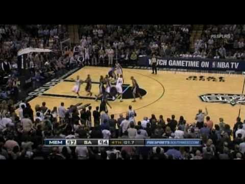 Gary Neal Buzzer Beater vs Grizzlies 4/27/11 (Spurs commentary version)