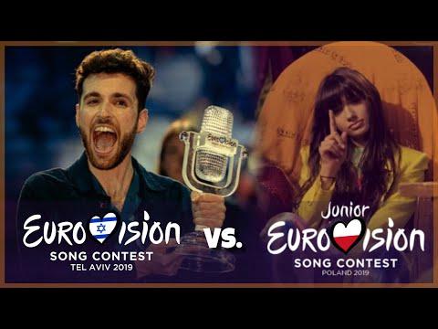 Junior Eurovision 2019 vs. Eurovision 2019 | Battle