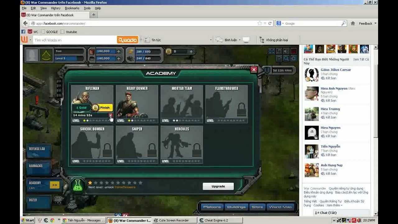 huong dan hack gold trong war commander