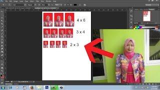 cara mudah membuat pas poto dengan photoshop