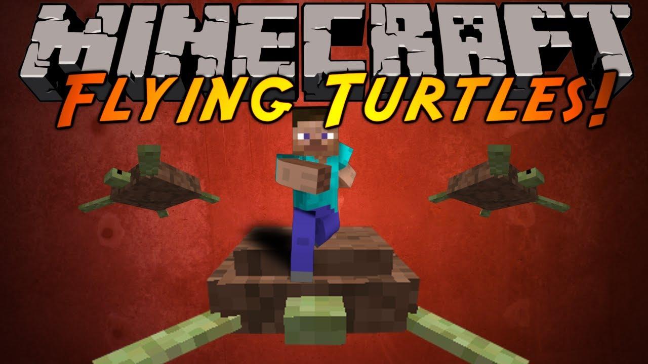 Minecraft mod showcase flying turtles youtube