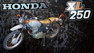 1974 Honda XL250 On Off Road Bike Restoration (Part 1 of 2)