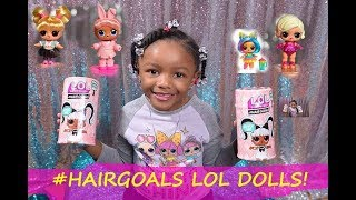 Hair Goals LOL SURPRISE DOLLS- Rare, Popular & fancy- New Toy Unboxing - Video For Kids