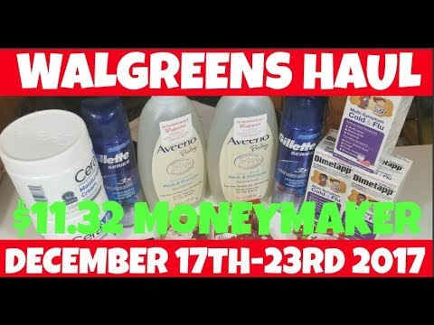 Walgreens $11.32 MONEYMAKER Haul December 17th-23rd 2017