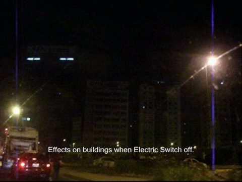 Caracas Naked City - No cars, no people at night.