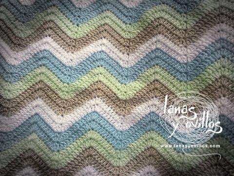 Tutorial Manta Zig Zag a Crochet Paso a Paso en Español