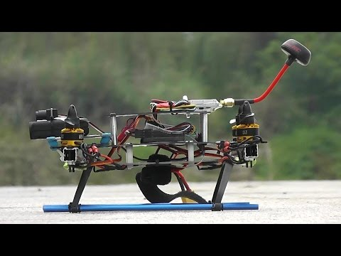 Black Racer Home Built Quadcopter Aerobatics