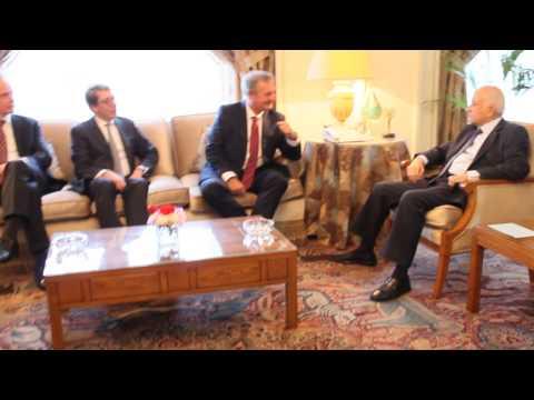 استقبل الامين العام د.نبيل العربى H.E.Mr.Jean Asselborn نائب رئيس وزراء ووزير خارجية لوكسمبرج