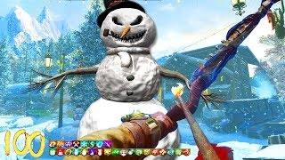 BEST CHRISTMAS ZOMBIES MAP!!! (Snowman Boss Fight...)