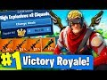 EXPLOSIVES ONLY 1VS100 CHALLENGE IN Fortnite Battle Royale!!