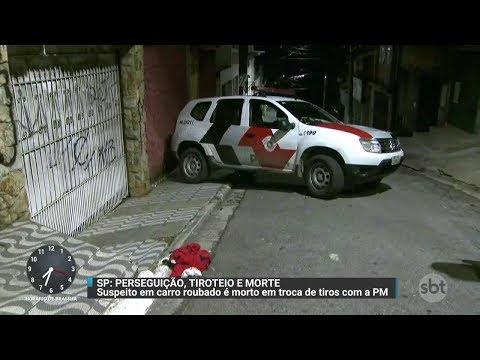Tiroteio termina com um suspeito morto e outro preso em SP | Primeiro Impacto (21/11/170