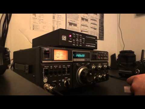The Rare NCG 10/160M Transceiver using 100 Watts out and Astatic 104MB6 Hand Mic
