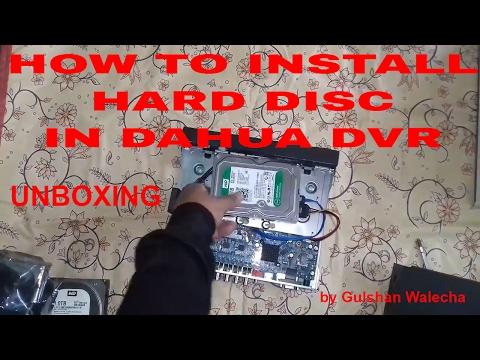 Dahua  DVR Unboxing & How To Fit Hard DIsc in Dahua DVR Dahua Part-1