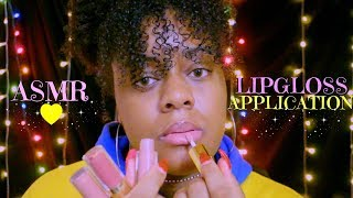Asmr Up Close Lipgloss Application Mouth Sounds Tapping