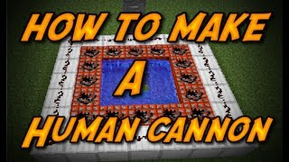 Minecraft-how to make a-Human cannon
