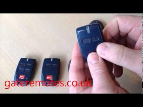 Programming BFT Mitto 2 & Mitto 4 Garage & Gate Remote Controls