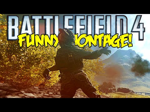 Battlefield 4 Dragons Teeth Funny Montage! Riot Shield RAGE, Star Jumping & More (BF4 Funny Moments)