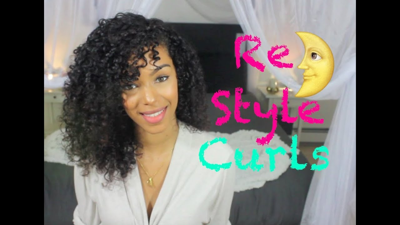 Re Style Curly Hair The Next Day ☾ Sleep Method