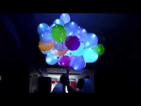 Запуск светящихся шаров на Свадьбе - заказать светящиеся шары в Киеве
