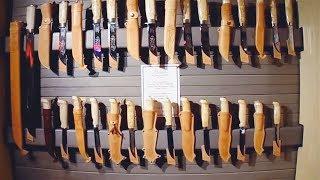 Фирменный магазин ножей Marttiini в Финляндии, экскурсия